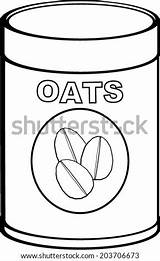 Oat Coloring Meal Oats Vector Template Pages Sketch Pic sketch template