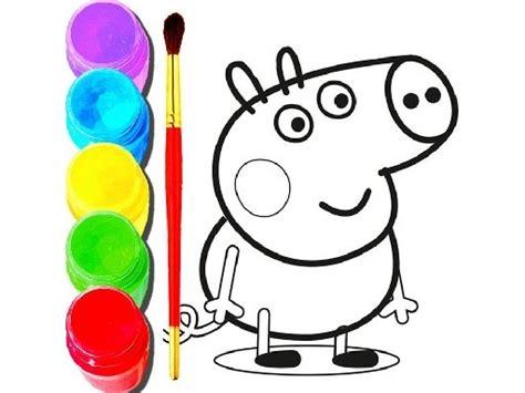 bts peppa pig coloring play game