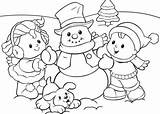 Winter Coloring Pages Printable Everfreecoloring sketch template