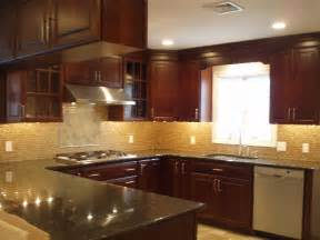 Pictures Of Kitchen Countertops And Backsplashes Cherry Cabinets Design Ideas
