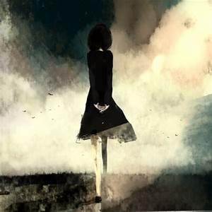 cute, draw, girl, lonely girl - image #503030 on Favim.com