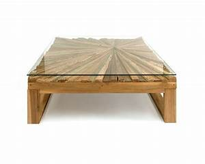 Square glass top rustic wood coffee table made from for Rustic wood and glass coffee table