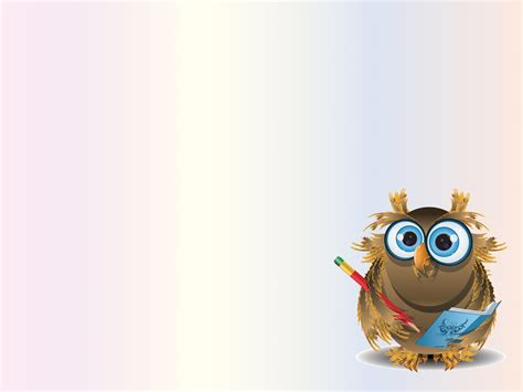 Blue And Yellow Backgrounds Sweet Owl Teacher Backgrounds Animals Educational Templates Free Ppt Backgrounds And