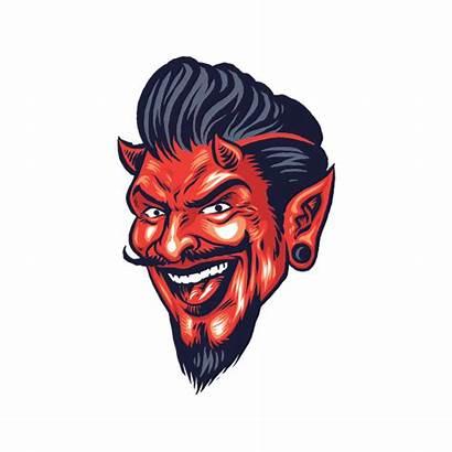 Devil Satan Smiling Diavolo Stickers Factory Low