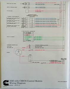 Cummins Laminated Ism With Cm876 Control Module Wiring