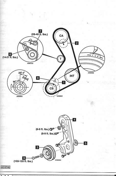 93 Ford ranger timing belt marks