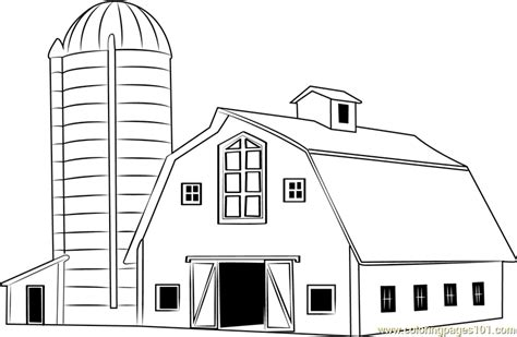 Traditional Wood Barn Coloring Page