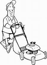 Mower Coloring Lawn Drawing Maaien Gras Stand Clip Huis Kleurplaten Illustrations Kleurplaat Bezigheden Voorwerpen Sketch Rond Popular Om Template sketch template