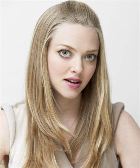 Amanda Seyfried Straight Casual Half Up Hairstyle