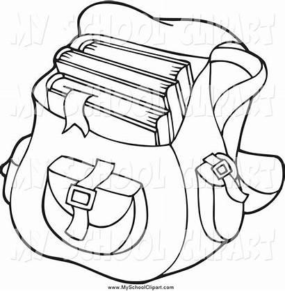 Bag Clipart Clip Bags Coloring Bookbag Pages