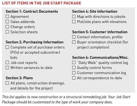 conduct  job start review jlc