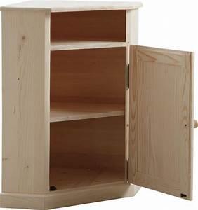 Meuble D Angle Chambre : meuble d 39 angle en bois brut ~ Teatrodelosmanantiales.com Idées de Décoration