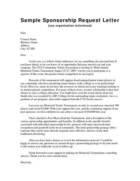 sle sponsorship letter request for charity sponsorship sle letter 28 images