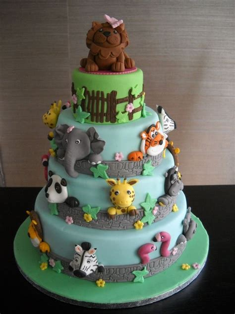cake cakes birthday animal zoo designs farm boy jungle animals children happy parties cakecentral baby party themed safari cupcakes chocolate