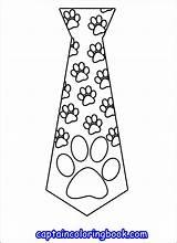 Tie Coloring Pages Preschool sketch template
