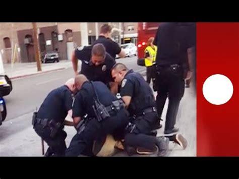 hes   kid onlookers horrified   police arrest