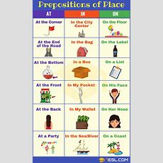 How To Use Prepositions Of Place Atinon Correctly In English  7 E S L