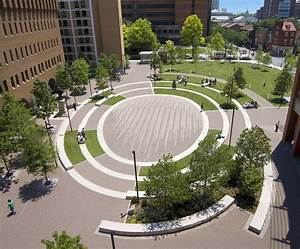 美国费城托马斯·杰斐逊大学校园圆形广场