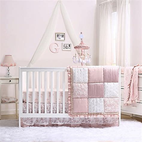 peanut shell grace  piece crib bedding set buybuy baby