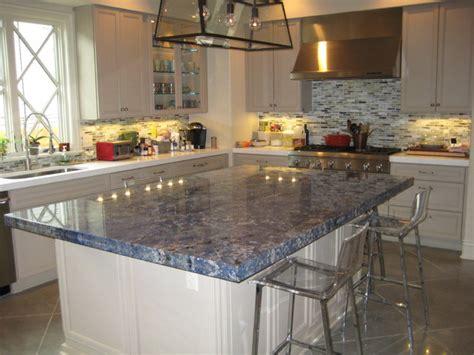 Kitchen Blue Bahia Granite Island  Traditional  Kitchen