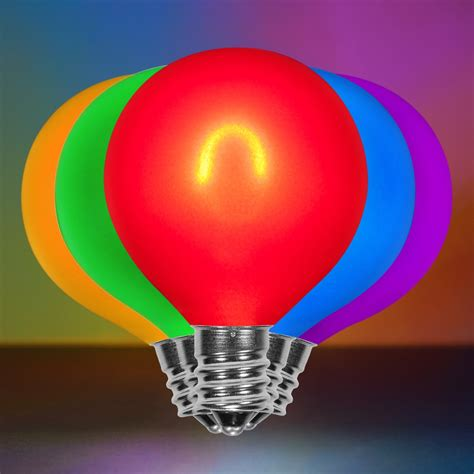 multicolor glass flexfilament tm led edison bulb satin