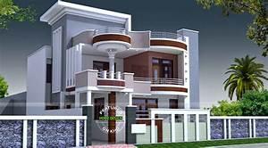 Double Floor House Front Design - Floordecorate.com