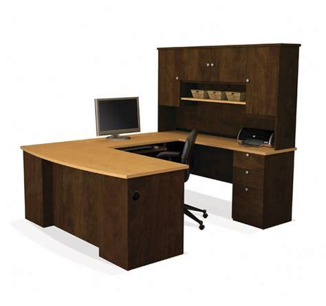 bestar u shaped desk with hutch u shaped office desk with hutch bestar 81411