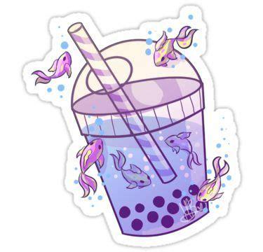 Boba drink | kawaii drawings, cute kawaii drawings, kawaii. 'Boba Tea Fish' Sticker by MynnuB | Kawaii stickers ...