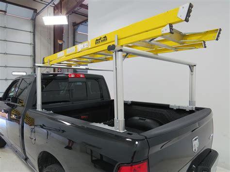 ladder racks for maxxtow truck bed ladder rack w load stops aluminum