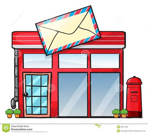 bureau postal a post office stock illustration illustration of exterior