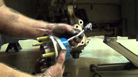 replacing  wheel hub assy  impala youtube