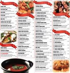 Indian Food Restaurant Menu