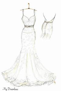wedding dress sketch created by dreamlines http www With wedding dress sketches