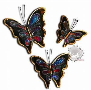 Papillon Décoration Murale : papillon d co en m tal cuivre bronze papillon unique ~ Teatrodelosmanantiales.com Idées de Décoration