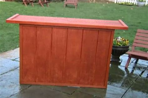 build a knock down outdoor serving bar watch a video of