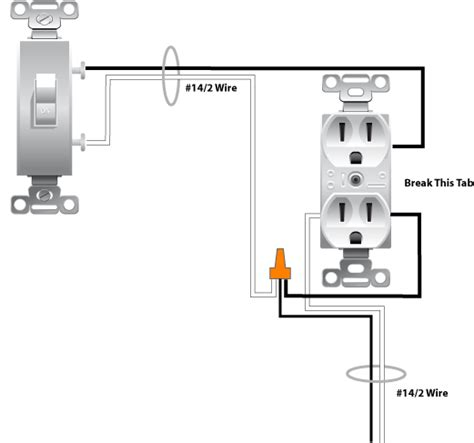 Wiring Switched Outlet Diagram Power