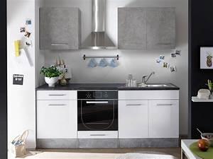 Kleine Küchenzeile Günstig : k che k chenblock k chenzeile komplettk che 210cm minik che wei grau 4038889040851 ebay ~ Indierocktalk.com Haus und Dekorationen