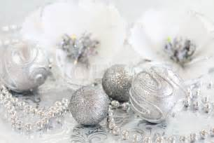 ornaments in silver and white tone stock photo colourbox