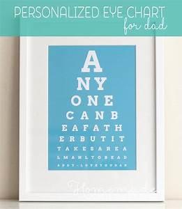 Personalized Fathers Day Gift - Eye Chart Art