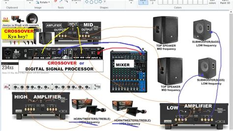 Dbx Crossover Wiring Diagram by Crossover Lifier Speakers Mixer Connection Details