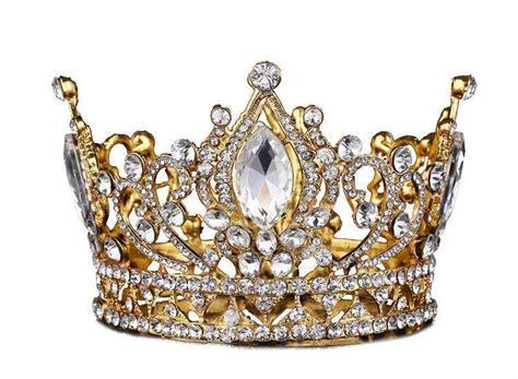 Big European Royal Crown Golden Rhinestone Crown Tiara ...