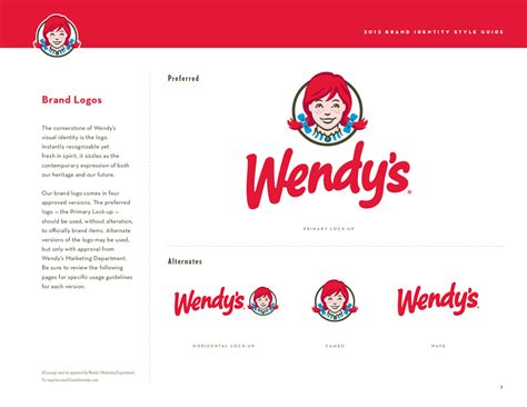 wendy s identity redesign refinements style guide parker moore design
