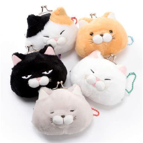 hige manjyu cat plush mini coin pouches tokyo otaku mode