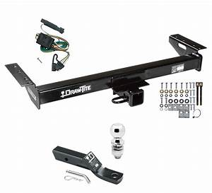 Trailer Tow Hitch For 91-96 Jeep Cherokee Complete Package W   Wiring  U0026 2 U0026quot  Ball