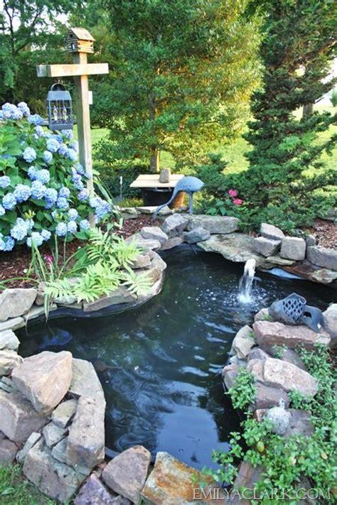 pond landscape backyard pond with landscaping ponds pinterest