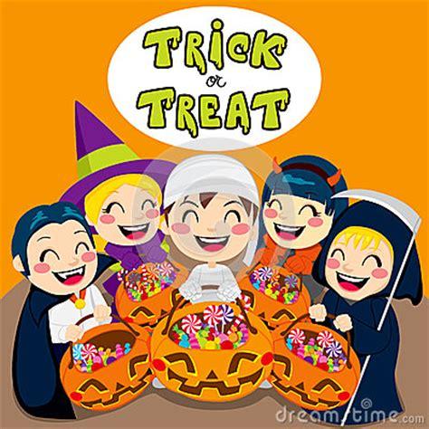 trick  treat kids stock  image