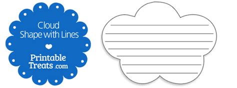 Cloud Template With Lines by Printable Cloud Shape With Lines Printable Treats