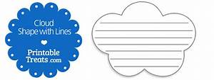 printable cloud shape with lines printable treatscom With cloud template with lines