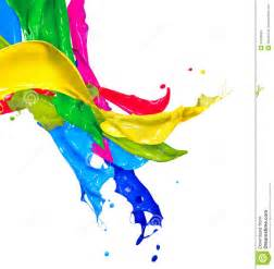 Colorful Abstract Paint Splash