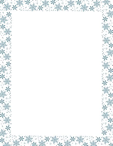 blue snowflake border paper  downloads  http